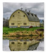Yellow Barn Fleece Blanket