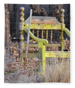 Yellow Bench Fleece Blanket