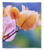 Yellow Bougainvillea Fleece Blanket