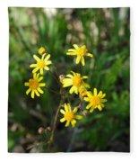 Yellow Bouquet On The Trail Fleece Blanket