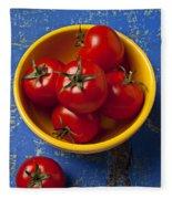 Yellow Bowl Of Tomatoes  Fleece Blanket