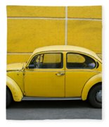 Yellow Bug Fleece Blanket