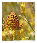 Yellow Butterfly Fleece Blanket
