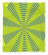 Yellow Cactus Spines Abstract Fleece Blanket