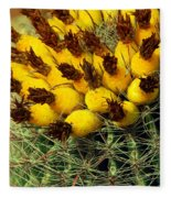 Yellow Cactus Fleece Blanket