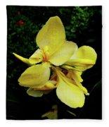 Yellow Canna  Fleece Blanket