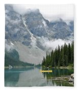 Yellow Canoe Fleece Blanket