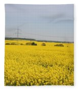 Yellow Canola Field Fleece Blanket