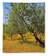 Yellow Carpet Fleece Blanket