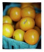 Yellow Cherry Tomatoes Fleece Blanket