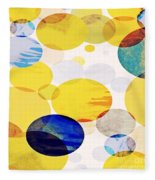 Yellow Circles Fleece Blanket