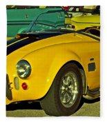 Yellow Cobra Fleece Blanket