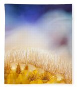 Yellow Coral Reef Macro Fleece Blanket