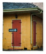 Yellow Cottage French Quarter- Nola Fleece Blanket
