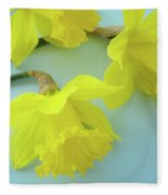 Yellow Daffodils Artwork Spring Flowers Art Prints Nature Floral Art Fleece Blanket