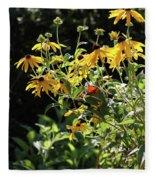 Yellow Daisies Fleece Blanket