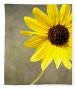 Yellow Daisy By Darrell Hutto Fleece Blanket