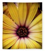 Yellow Daisy Fleece Blanket