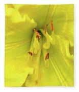 Yellow Daylily Fleece Blanket