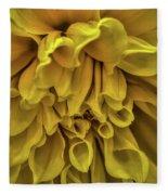 Yellow Dinner Plate Dahlia Fleece Blanket