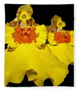 Yellow Dresses Fleece Blanket