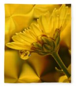Yellow Drip Fleece Blanket