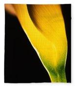 Yellow Essence Fleece Blanket