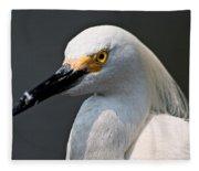Yellow Eye Fleece Blanket