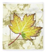 Yellow Fall Fleece Blanket