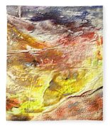 Yellow Field Fleece Blanket