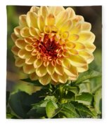 Yellow Flora Fleece Blanket