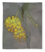Yellow Flower Art Fleece Blanket