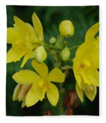 Yellow Flower Fleece Blanket