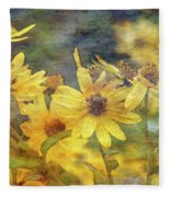 Yellow Flower View 4851 Idp_2 Fleece Blanket