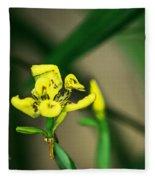 Yellow Flowers I Fleece Blanket