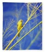Yellow Fronted Canary Fleece Blanket