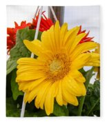 Yellow Gerbera Daisy Fleece Blanket