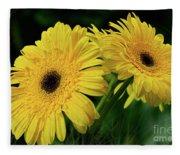 Yellow Gerbera Daisies By Kaye Menner Fleece Blanket
