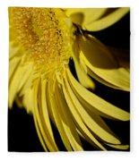 Yellow Gerbera Daisy By Kaye Menner Fleece Blanket