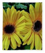 Yellow Gerberas Fleece Blanket