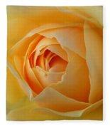 Yellow Graham Thomas Rose Fleece Blanket by Jocelyn Friis
