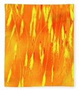 Yellow Grass Spikes Fleece Blanket