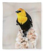 Yellow Headed Blackbird #4 Fleece Blanket