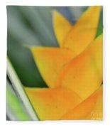 Yellow Heliconia - Hawaii Plants Flowers  Fleece Blanket