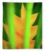 Yellow Heliconia - Tropical Hawaii - 957 Fleece Blanket