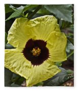 Yellow Hibiscus F134 Fleece Blanket