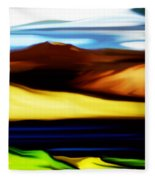 Yellow Hills Fleece Blanket