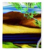 Yellow Hills Revisited Fleece Blanket