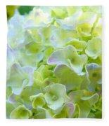 Yellow Hydrangea Flowers Art Prints Baslee Troutman Fleece Blanket