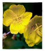 Yellow Is Gold Among The Flowers Fleece Blanket